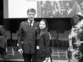 S.Magnani con astronauta R. Vittori