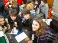 Studenti durante la gara